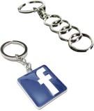 Alexus Audi And Facebook Key Chain (Silv...