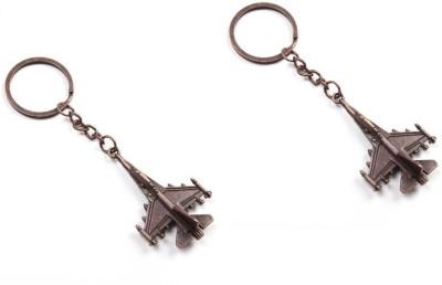 Phoenix Pack of 2 Fighter Jet Bronze Key Chain