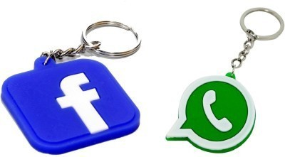 Azure Whatsapp and Facebook Silikon Key Chain Carabiner
