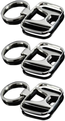 Onlinemart Honda Full Metal KeyRing (Pack of 3) Key Chain