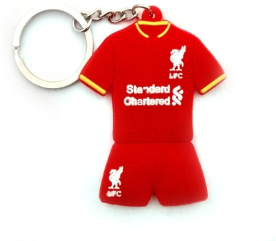 Techpro double sided Rubber with Liverpool jersey design Locking Key Chain
