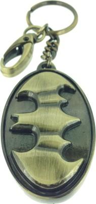 Warner Bros Batman Antique Brass Metal Shield Keychain Carabiner
