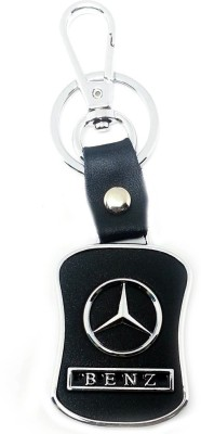 TAG3 Mercedes Car Leather & Metal Logo Key Chain