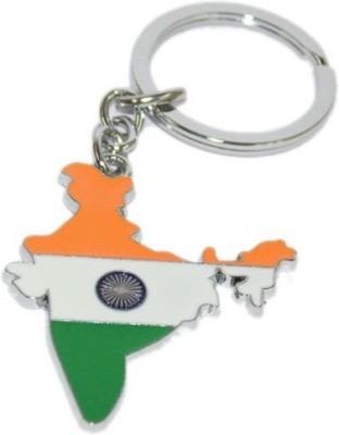 Aura Imported Indian Flag Metal Key Chain