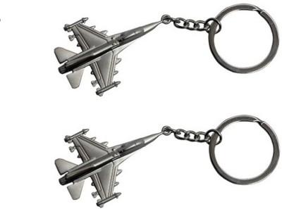 Phoenix Pack Of 2 Fighter Jet Metal Key Chain