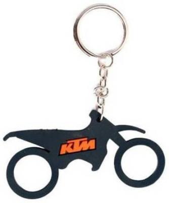 Accessory Bazar ABZR KTM Bike Shape Rubber Keychain Key Chain