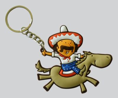 Chimp Cowboy Key Chain
