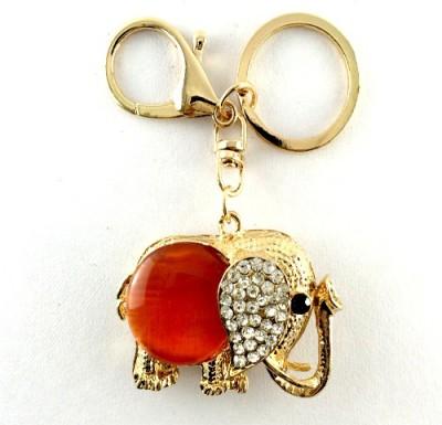 S2S Elephant Gold Red Fashion Key Chain Locking Key Chain