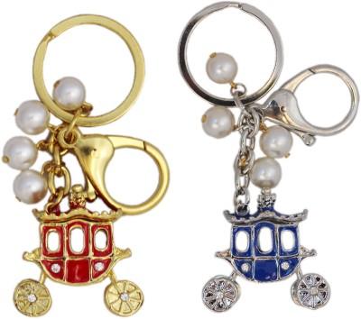Tootpado Buggy (Pack Of 2) - 1o167 - Stylish Stone Metal Crystal Keyring Rhinestones Purse Pendant Handbag Charm Key Chain(Multicolor)