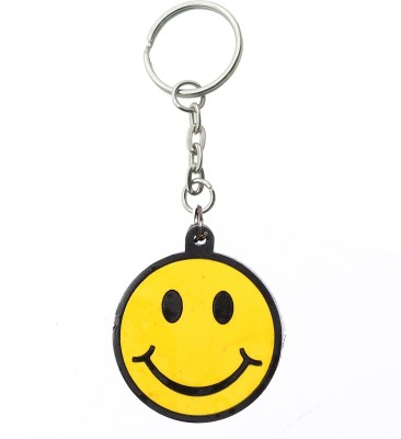 Confident Yellow Smily Rubber Key Chain