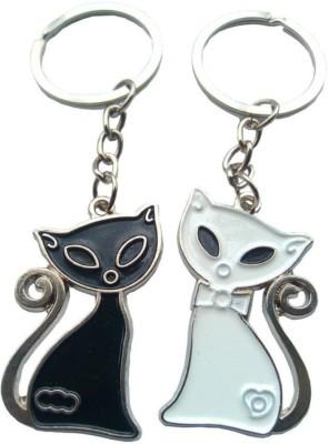 Anishop Cute Cat Metal Couple Key Chain