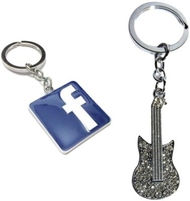 Alexus Facebook And Guitar Key Chain