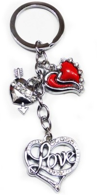 FASHION FEVER CLASSY LOVE HEART STONE EMBEDED ATTRACTIVE Key Chain