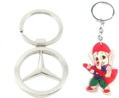 Ezone Full Mercedes Benz Metal & Rubber Ganesh Key Chain Key Chain