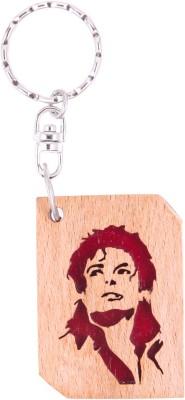 JM Michael Jackson face 2 Key Chain