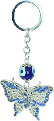 Kriti Creations Butterfly Turkish Evil Eye Key Chain