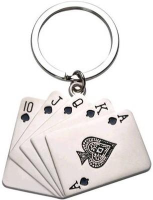 Anishop Poker cards Metal Key Chain
