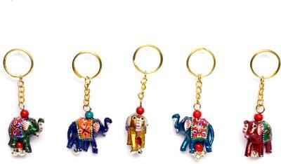 Lamha Crafts Pack Of 5 Elephant Key Chain