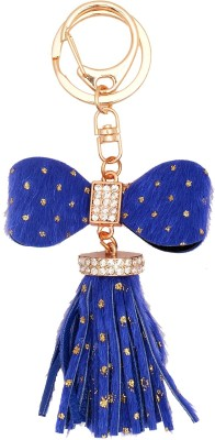 Super Drool Blue Shimmer And Tassels Key Chain