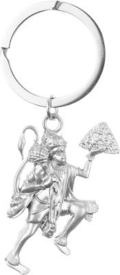 Confident KC93 Metal Silver Color JAI HANUMAN GOD Key Chain