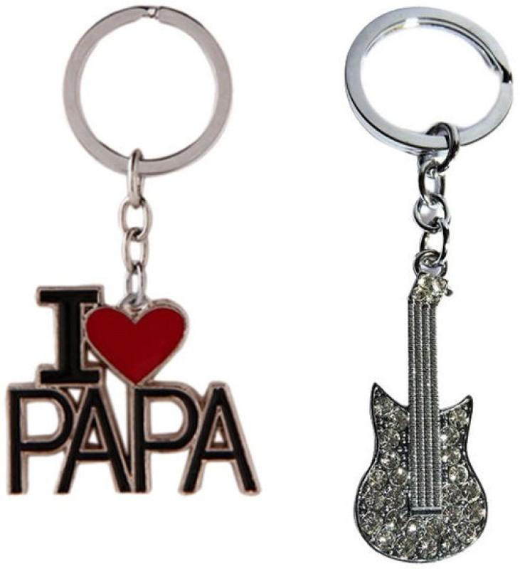 Alexus Papa And Guitar Key Chain