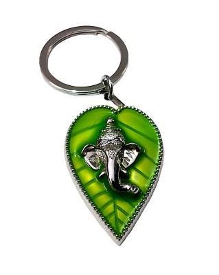 FCS Ganesh Ji Green Leaf Key Chain