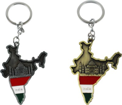 Target retail TAJMAHAL IN INDIA GREY AND GOLDEN COLOR KEYRING Key Chain