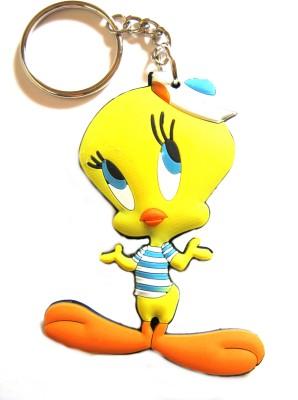 Optimum Deal Cute Tweety Soft Rubber Double Sided Key Chain