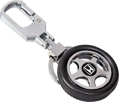 CTW Honda Logo Premium Quality Rotating Wheel Tyre Keyring Metal Locking Key Chain