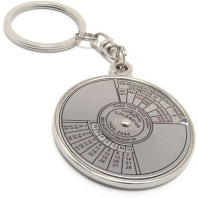 Zeroza Date Perpetual with Calendar up-to 50 Years CDR94 Key Chain