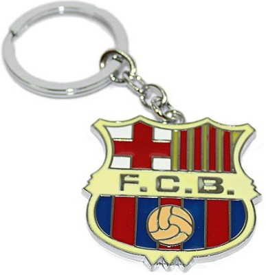 Aura FC Barcelona FCB Football Full Metal Imported Locking Key Chain