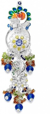 Taraash Eameled Peacock With Multicolour Cz & Enamel Key Chain