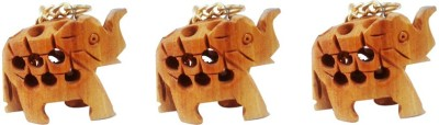 Tarun Industries Set Of 3 Elephant Key Chain
