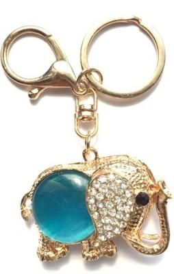 S2S Crystal Elephant Gold Fashion Rhinestone Key Chain Locking Key Chain