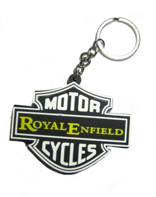 Optimum Deal Cute Royal Enfield Motor Cycle Double Sided Rubber Key Chain