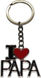 Bainsons I-Love-Papa-Metal Key Chain (Si...