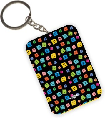 The Crazy Me Post It Emoticons Key Chain