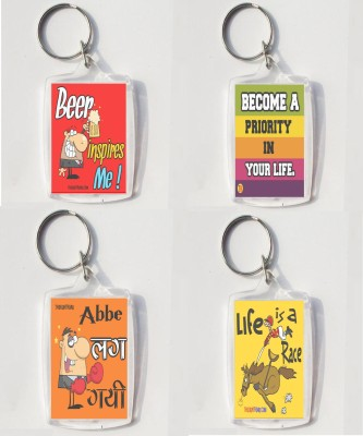 Thoughtroad LIFE IS A RACE..AND I NEED BEER Key Chain