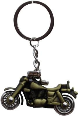 SURAJ ENTERPRISES Royal Enfield Bike shaped Metal Green Locking Key Chain