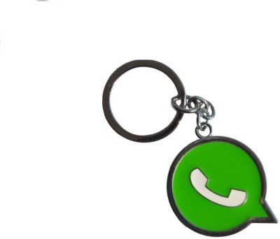 Ezone Whats App Metal Bent Gate Keychain Carabiner