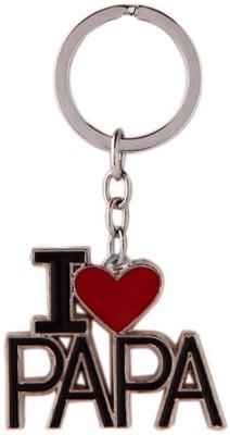 Anishop I LOVE PAPA (PAPA Love) Key Chain(Black, Red, Silver)