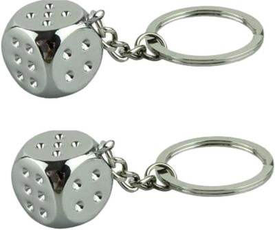 Chainz Pack of 2 Dice Metal Key Chain