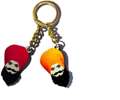 MiiCreations Punjabi Turban Singh Beard Key Chain