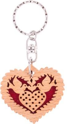 JM Love Birds in Heart 2 Key Chain