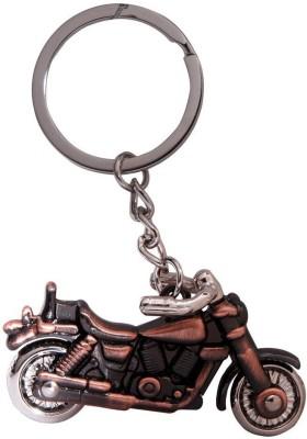 SURAJ ENTERPRISES Royal Enfield Bike Shaped Brown colored metal Key Chain