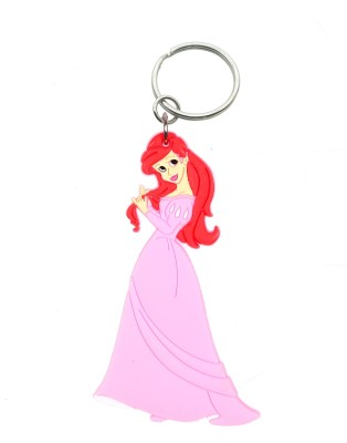 Confident Non Metal Lady Dall Key Chain(Pink)