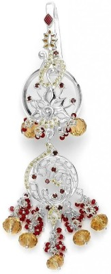 Taraash Floral Motifs With Champagne Cz Stone Key Chain
