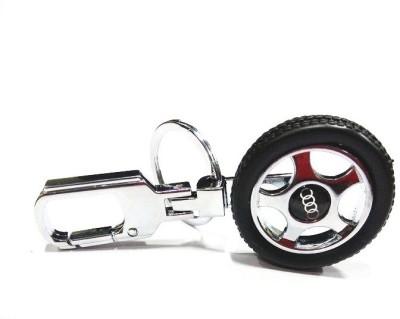 Prime Traders Audi Rotary Wheel Car Logo Locking Key Chain