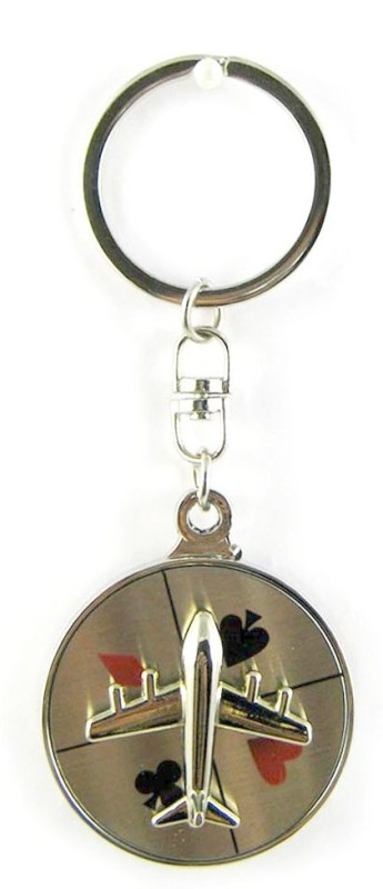 Aardee Plane With Card Signs Keychain Key Chain(Multicolor)