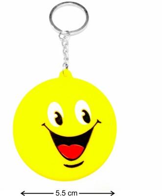 Tech Fashion Big Yellow Smiley Plastic Locking Key Chain